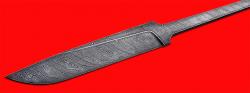 Клинок для ножа Карачаевский (Бычак), дамасская сталь