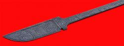 Клинок для ножа Викинг малый, клинок дамасская сталь