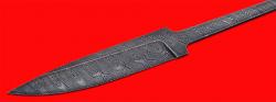 Клинок для ножа Гладиатор, клинок дамасская сталь