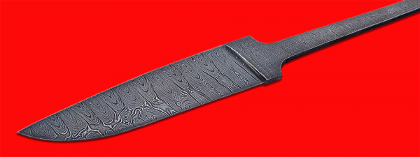 """Клинок для ножа """"Леопард"""", дамасская сталь"""