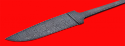 Клинок для ножа Леопард, дамасская сталь