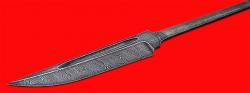 Клинок для ножа Норвежский, клинок дамасская сталь