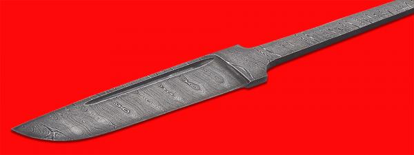 """Клинок для ножа """"Скандинавский средний"""" (улучшенный), клинок дамасская сталь"""
