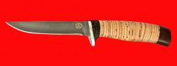 Нож Тунец, клинок булатная нержавеющая сталь (нержавеющий булат), рукоять береста