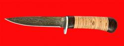 Нож Засапожный-2, клинок тигельный булат, рукоять береста