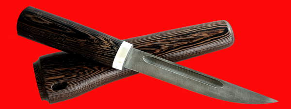 """Нож """"Якутский большой"""", клинок дамасская сталь, рукоять венге, деревянный чехол"""
