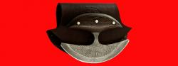 Нож Улу, цельнометаллический, клинок дамасская сталь, рукоять венге