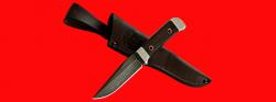 Нож Альбатрос, цельнометаллический, клинок дамасская сталь, рукоять венге
