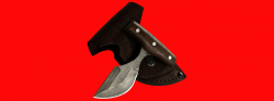 Нож Кораблик, цельнометаллический, клинок дамасская сталь, рукоять венге