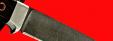 """Нож """"Стерх"""", цельнометаллический, клинок дамасская сталь, рукоять венге"""