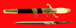 Кортик ВДВ, разборный, клинок сталь 95Х18, рукоять пластмасса