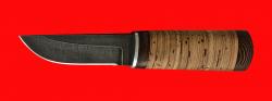 Охотничий нож Северный-2, клинок дамасская сталь, рукоять береста