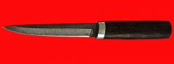 Охотничий нож Эвенк, клинок дамасская сталь, рукоять венге