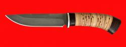 Охотничий нож Браконьер, клинок сталь Х12МФ, рукоять береста