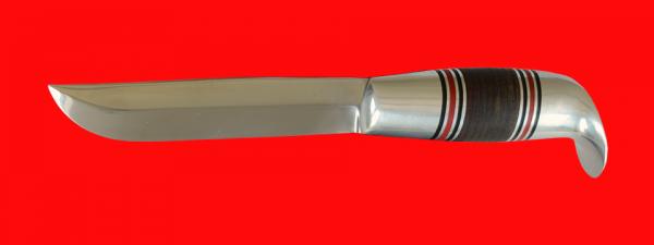 """Финка """"Фронтовая"""", клинок сталь 95Х18, рукоять кожа, металл"""