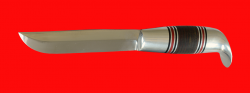 Финка Фронтовая, клинок сталь 95Х18, рукоять кожа, металл