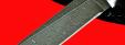 """Нож """"Грибник"""", клинок дамасская сталь, рукоять морёный дуб"""