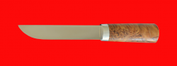 Авторский нож Пареньский средний, клинок сталь 95Х18, рукоять стабилизированная карельская береза (цвет натуральный)