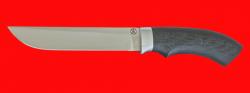 Нож для охоты Грибник-3, клинок сталь D2 термоциклированная, рукоять карбон