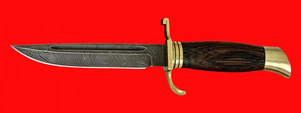 """Финка """"НКВД"""", клинок дамасская сталь, рукоять венге, латунь"""