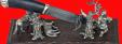 Композиция Охота на волков, венге, мельхиор