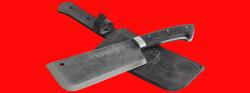 Нож Тяпка мясницкая, цельнометаллическая, клинок сталь У8, рукоять венге