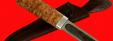 Якутский нож малый 014, ручная ковка, клинок сталь У8, заточка линза, рукоять карельская берёза
