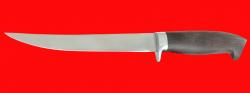Филейный нож Судак большой, клинок сталь 65Х13, рукоять венге