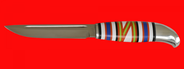 Жиганская финка Ира 001, клинок кованая сталь У8, рукоять наборный пластик