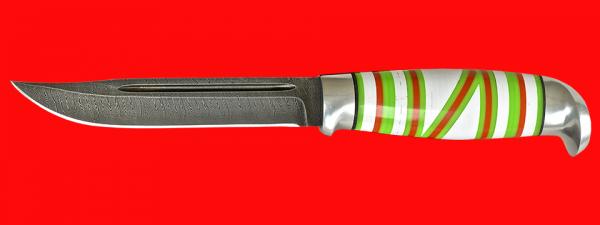 Жиганская финка Ира 003, клинок дамасская сталь, рукоять наборный пластик