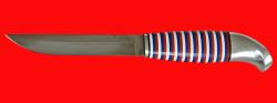 Финка 004, клинок кованый сталь У8, рукоять наборный пластик