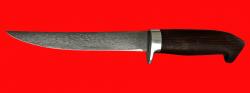 Филейный нож Судак средний, клинок сталь Х12МФ, рукоять венге