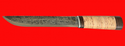 Нож Пареньский большой, ручная ковка, клинок сталь У8, рукоять береста