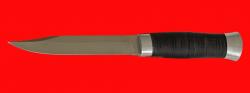 Нож Разведчик-3, клинок сталь 95Х18, рукоять кожа, металл