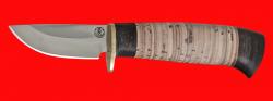 Охотничий нож Воробей, клинок порошковая сталь ELMAX, рукоять береста