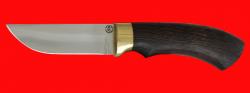 Охотничий нож Грибник (малый), клинок сталь ELMAX, рукоять венге