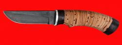Охотничий нож Грибник (малый), клинок сталь Х12МФ, рукоять береста