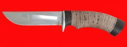 Охотничий нож Грибник-2, клинок сталь 95Х18, рукоять береста