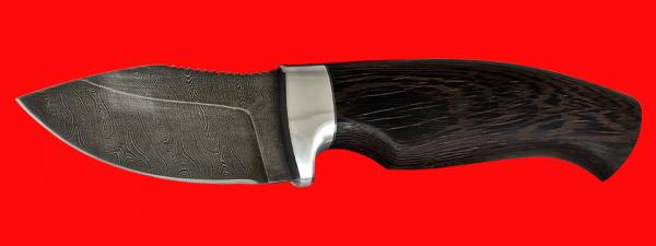 """Нож """"Ёжик"""", клинок дамасская сталь, рукоять венге"""