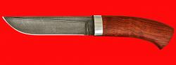 Охотничий нож Олень, клинок дамасская сталь, рукоять падук
