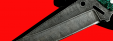 """Нож """"Городской"""", цельнометаллический, клинок дамасская сталь, рукоять пластик (зеленый)"""