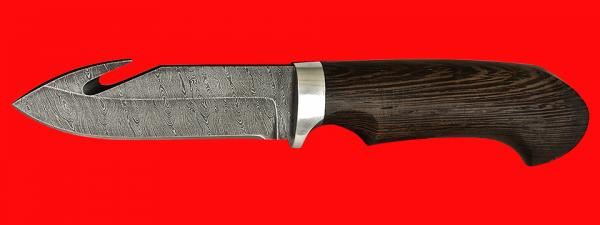 """Охотничий нож """"Скиннер-1"""", клинок дамасская сталь, рукоять венге"""