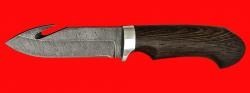 Охотничий нож Скиннер-1, клинок дамасская сталь, рукоять венге
