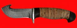 Охотничий нож Скиннер-2, клинок дамасская сталь, рукоять береста
