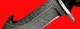 """Охотничий нож """"Скиннер-2"""", клинок дамасская сталь, рукоять береста"""