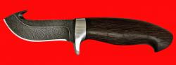 Охотничий нож Скиннер-2, клинок дамасская сталь, рукоять венге