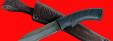 """Нож """"Беркут-2"""", клинок дамасская сталь, рукоять пластмасса (цвет черный)"""