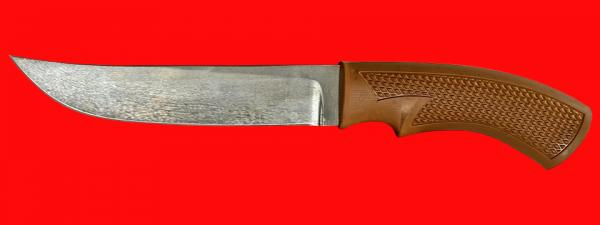 """Нож """"Советский охотничий"""", клинок сталь Х12МФ, рукоять пластмасса (цвет коричневый)"""