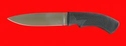 Нож Русский охотничий-3, клинок сталь 95Х18, рукоять пластмасса (цвет черный)
