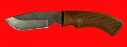 Нож Охотничий-2, клинок сталь Х12МФ, рукоять пластмасса (цвет коричневый)